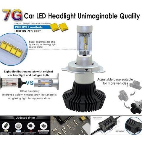 Набір світлодіодного головного світла UP-7HL-H3W-4000Lm (H3, 4000 лм, холодний білий) Прев'ю 2